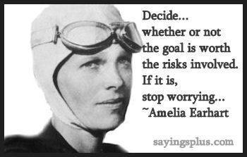 inspirational Amelia Earhart Quotes
