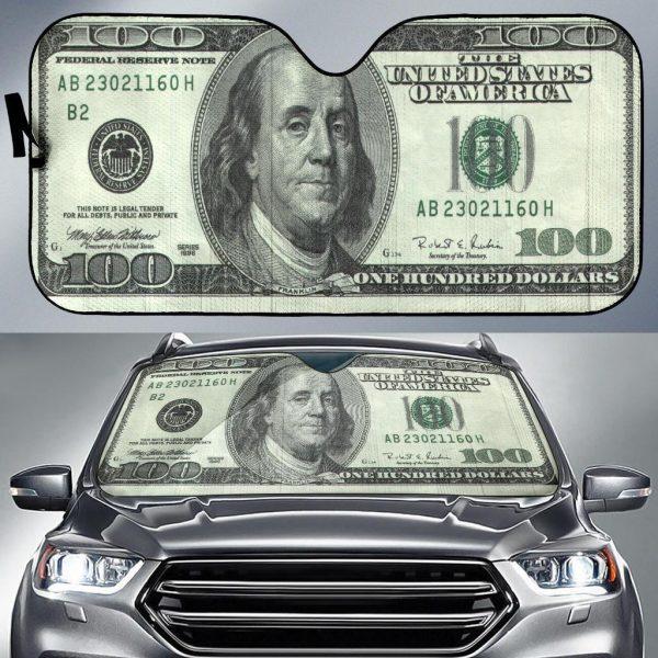 100 Dollars Funny Ideas Car Auto Sun Shade