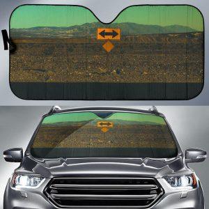 2 Way Sign Board On The Roads Car Auto Sun Shade
