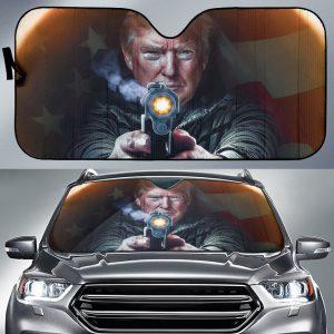 2020 Presidential Campaign Donald Trumps Car Auto Sun Shade