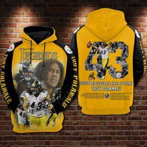 2020 Pro Football Hall Of Fame Troy Polamalu 3D Printed Hoodie/Zipper Hoodie