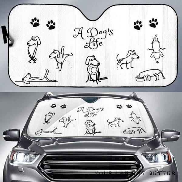 A DogS Life Car Auto Sun Shade