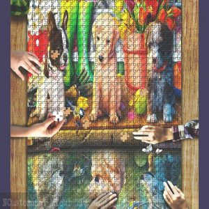 A Dogs Life Puppy Dreams Jigsaw Puzzle Set