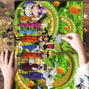 A Green Dragon Ball Jigsaw Puzzle Set