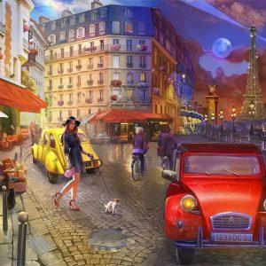 A Stroll In Paris Jigsaw Puzzle Set