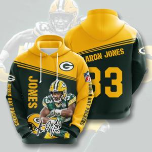 Aaron Jones Green Bay Packers 3D Printed Hoodie/Zipper Hoodie