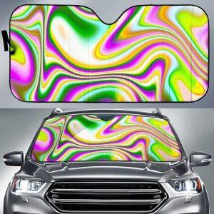 Abstract HoloLiquid Car Auto Sun Shade