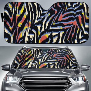 Abstract Zebra Car Auto Sun Shade