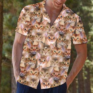 Abyssinian Hawaiian Shirt Summer Button Up