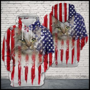 Acat Usa Flag 3D Printed Hoodie/Zipper Hoodie