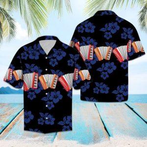Accordion For Vacation Hawaiian Shirt Summer Button Up