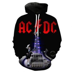Acdc Rock Band 3D Printed Hoodie/Zipper Hoodie