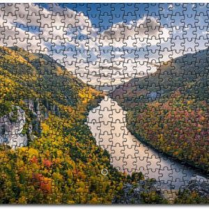 Adirondack Mountains River Clouds Trees Jigsaw Puzzle Set