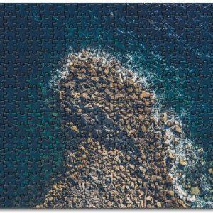 Aeiral View Sea Water Coast Rocks Jigsaw Puzzle Set