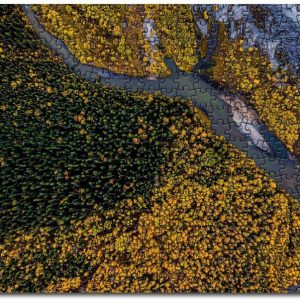 Aerial Beauty In Nature Forest Jigsaw Puzzle Set