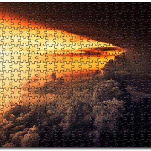 Aerial Cloud Horizon Sunset Jigsaw Puzzle Set
