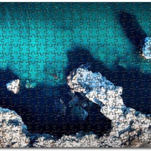 Aerial Drone Island Beach View Jigsaw Puzzle Set