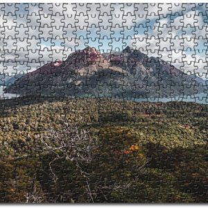 Aerial Forest To The Lake And The Mountains Jigsaw Puzzle Set