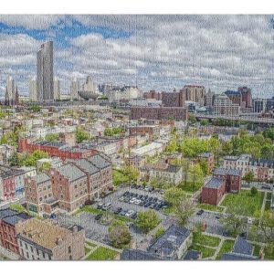 Aerial View Of Albany Jigsaw Puzzle Set