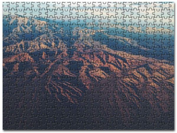 Aerial View Of Mountain Range Jigsaw Puzzle Set