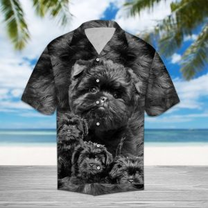 Affenpinscher Great Hawaiian Shirt Summer Button Up