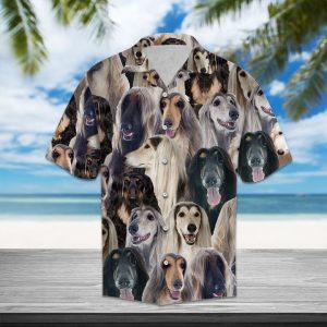 Afghan Hound Hawaiian Shirt Summer Button Up