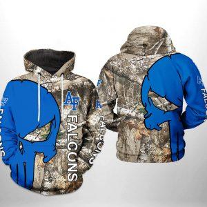 Air Force Falcons NCAA Camo Veteran Hunting 3D Printed Hoodie/Zipper Hoodie