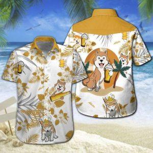 Akita Beer Hawaiian Shirt Summer Button Up
