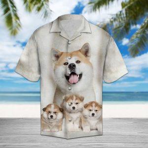 Akita Great Hawaiian Shirt Summer Button Up