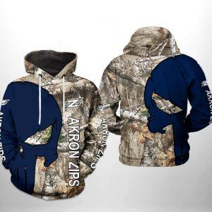 Akron Zips NCAA Camo Veteran Hunting 3D Printed Hoodie/Zipper Hoodie