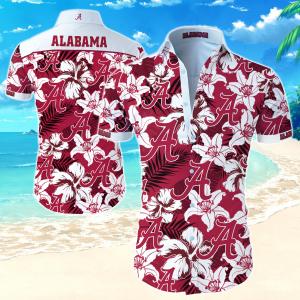 Alabama Crimson Tide Hawaiian Shirt Summer Button Up