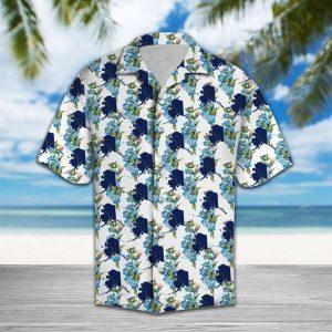 Alaska Alpine Forget Me Not Flower Hawaiian Shirt Summer Button Up