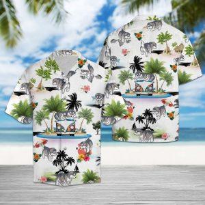 Alaskan Malamute Vacation Hawaiian Shirt Summer Button Up