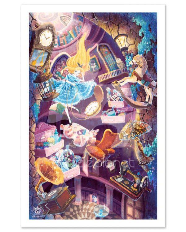 Alice In Wonderland Down The Rabbit Hole Jigsaw Puzzle Set