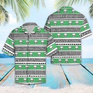 Alien Pattern Hawaiian Shirt Summer Button Up