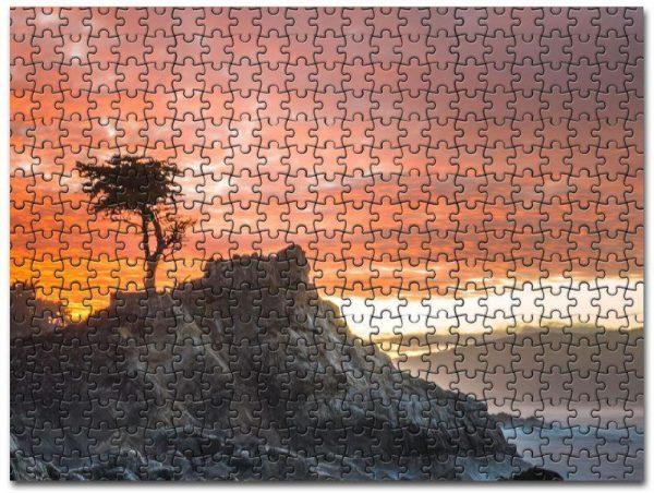 Alone Tree Breeze Jigsaw Puzzle Set