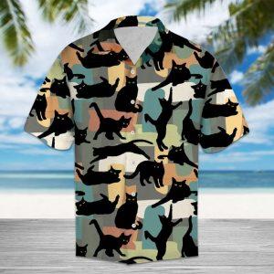 Amazing Black Cat Hawaiian Shirt Summer Button Up