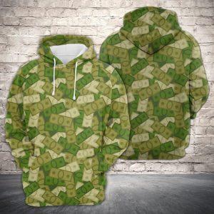 Amazing Camouflage Of Cash 3D Printed Hoodie/Zipper Hoodie