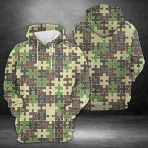 Amazing Camouflage Puzzle 3D Printed Hoodie/Zipper Hoodie