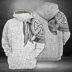 Amazing Viking 3D Printed Hoodie/Zipper Hoodie