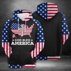 American Flag 3D Printed Hoodie/Zipper Hoodie