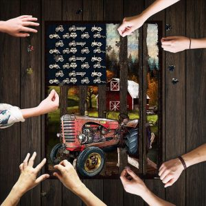 American Tractor Jigsaw Puzzle Set