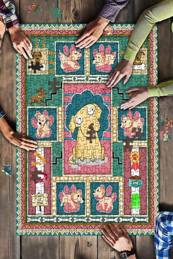 Animal Cute Dog Jigsaw Puzzle Set