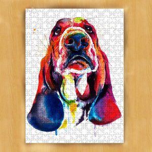 Animal Dogs, Bloodhound, Painting Jigsaw Puzzle Set