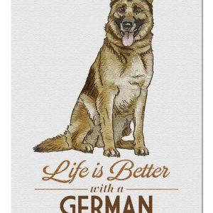 Animal Dogs, German Shepherd Life Is Better Jigsaw Puzzle Set