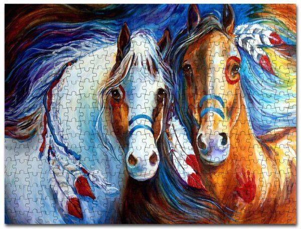 Animal Horses, Painting Jigsaw Puzzle Set