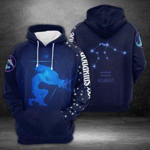 Aquarius Horoscope 3D Printed Hoodie/Zipper Hoodie
