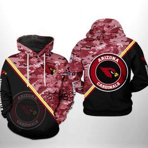 Arizona Cardinals NFL Camo Team 3D Printed Hoodie/Zipper Hoodie