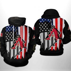 Arizona Diamondbacks MLB US Flag 3D Printed Hoodie/Zipper Hoodie