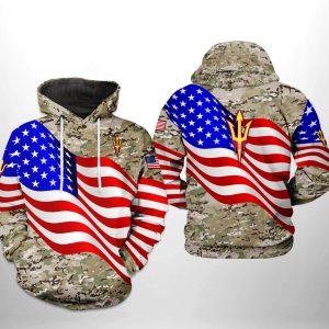 Arizona State Sun Devils NCAA US Flag Camo Veteran 3D Printed Hoodie/Zipper Hoodie